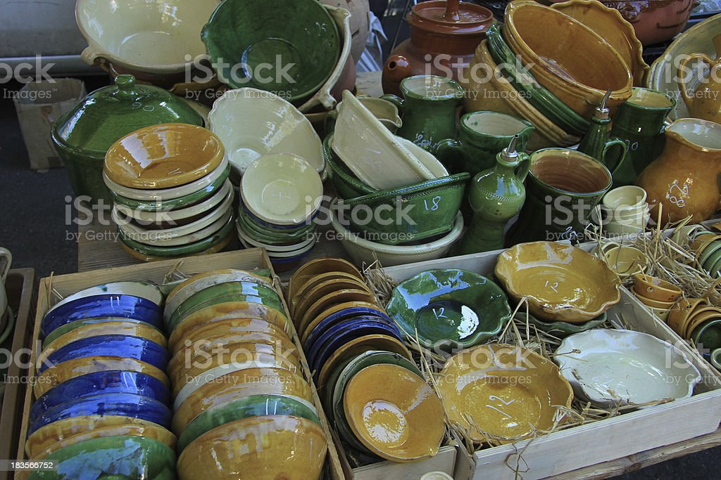 Artisanal pottery from the Provence royalty-free stock photo