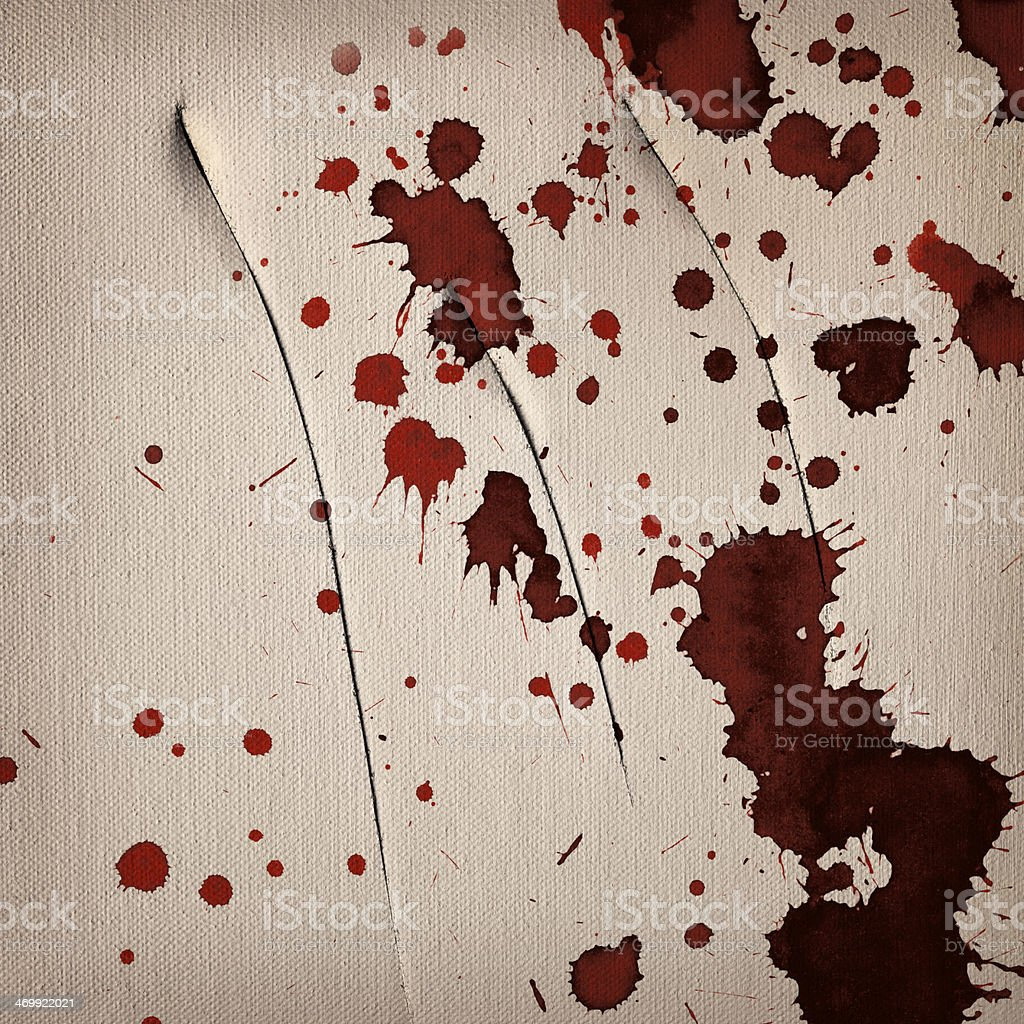 Artist Bloodstained Slit Linen Primed Canvas Grunge Texture royalty-free stock photo