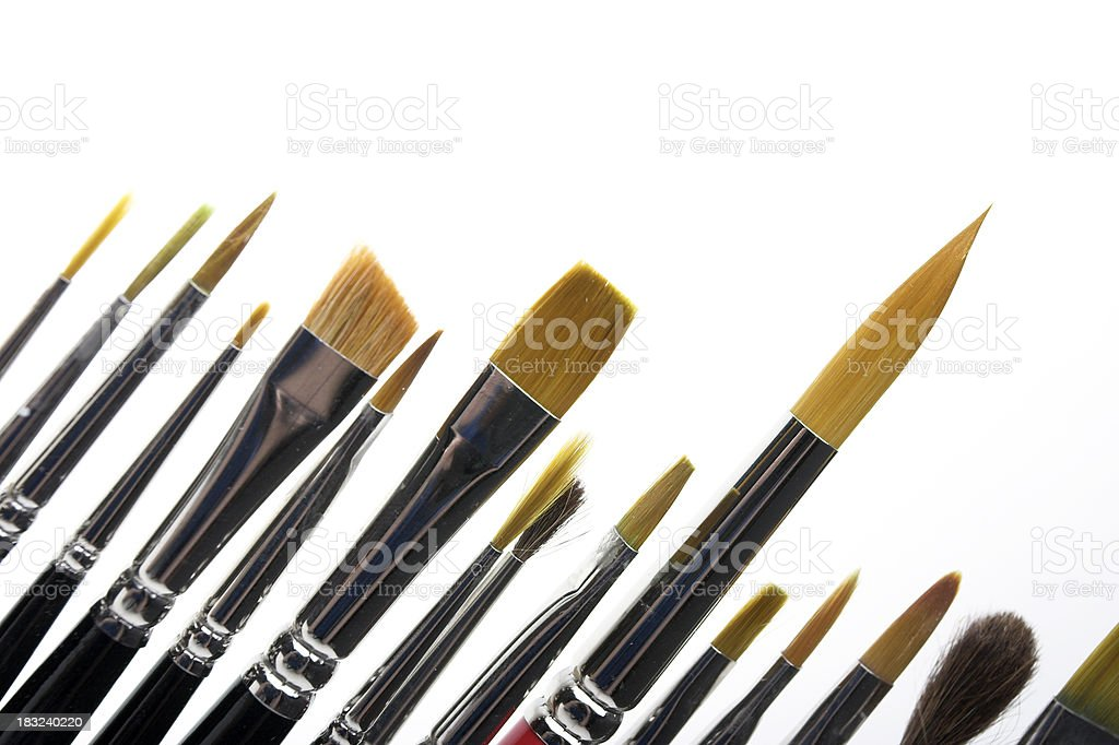 Artist Brushes royalty-free stock photo