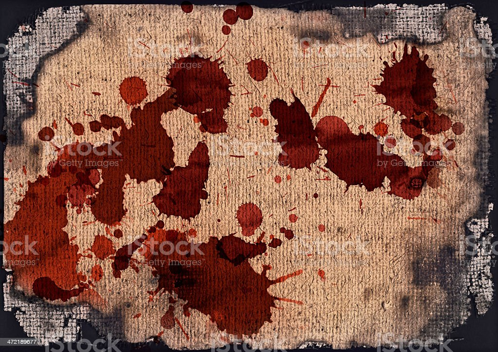 Artist Burlap Canvas Burnt Blood Stained Vignette Grunge Texture royalty-free stock photo