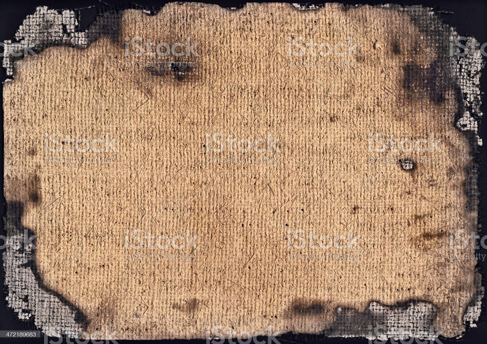 Artist Burlap Canvas Burnt Vignette Grunge Texture royalty-free stock photo