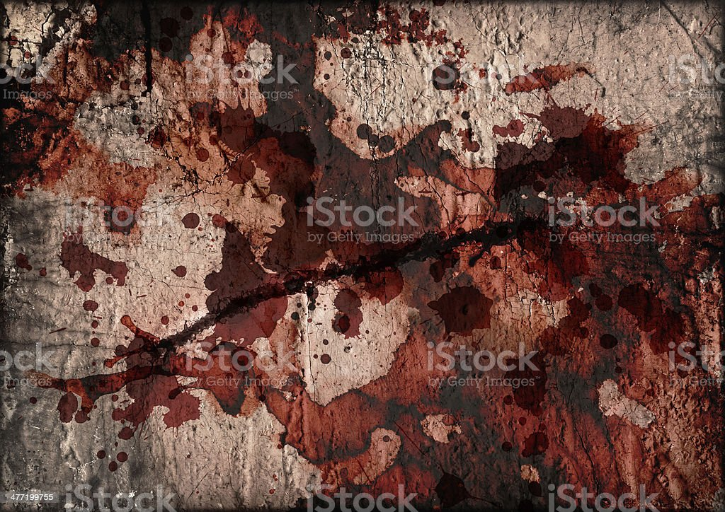 Artist Burlap Canvas Crushed Burnt Slitted Blood Stained Grunge Texture stock photo