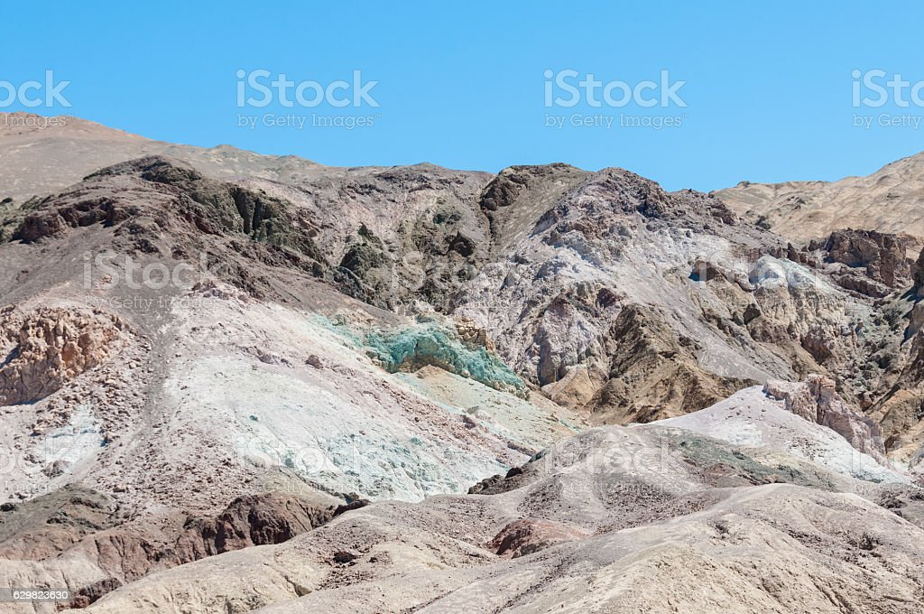 Artist Drive in Death Valley National Park, California stock photo