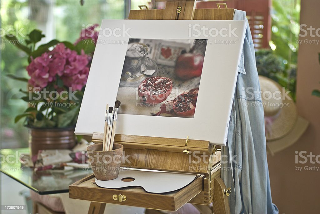 Artist Easel Room royalty-free stock photo
