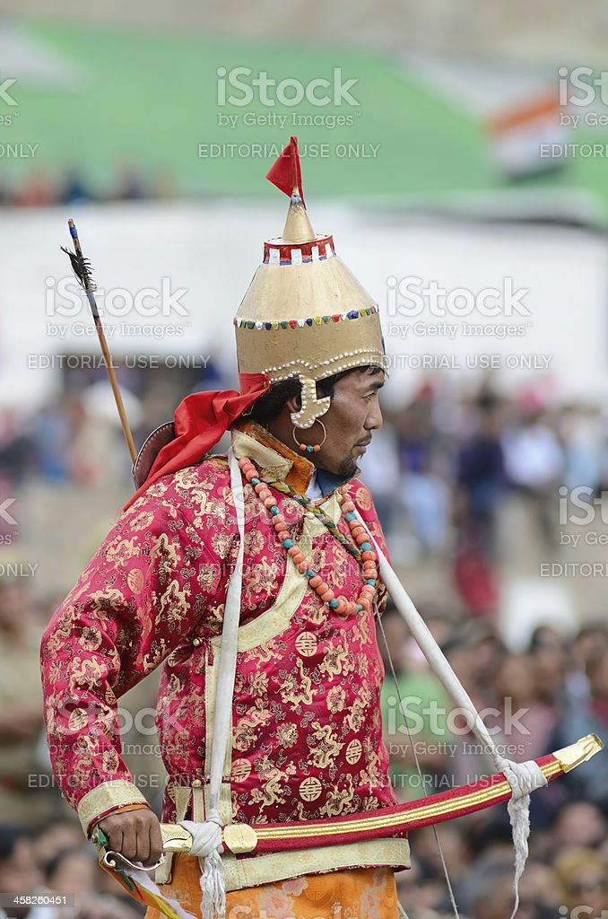 Artist on Festival of Ladakh Heritage royalty-free stock photo