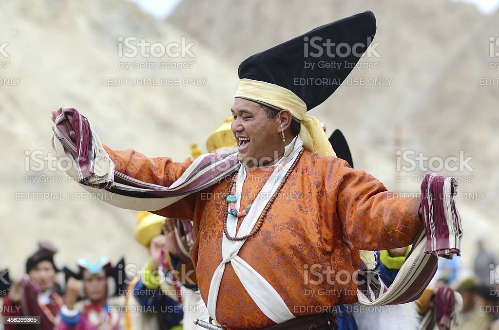 Artist on Festival of Ladakh Heritage royalty-free stock photo