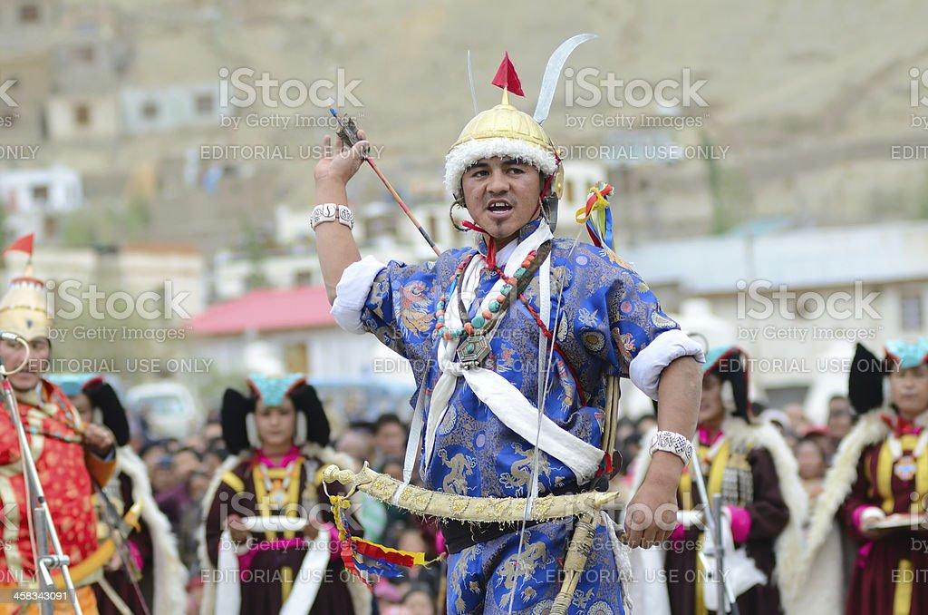 Artist on Festival of Ladakh Heritage stock photo