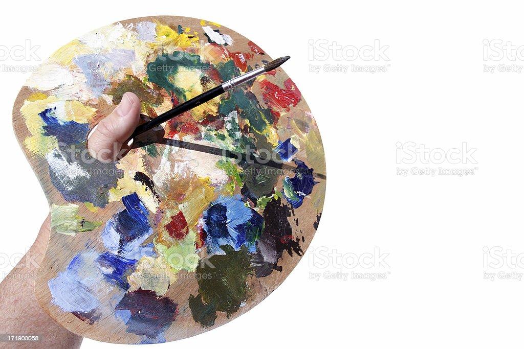 artist palette royalty-free stock photo