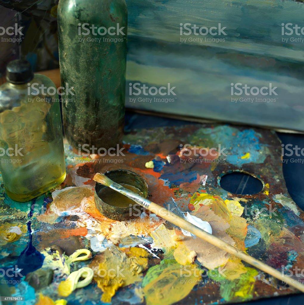 Artist Palette stock photo