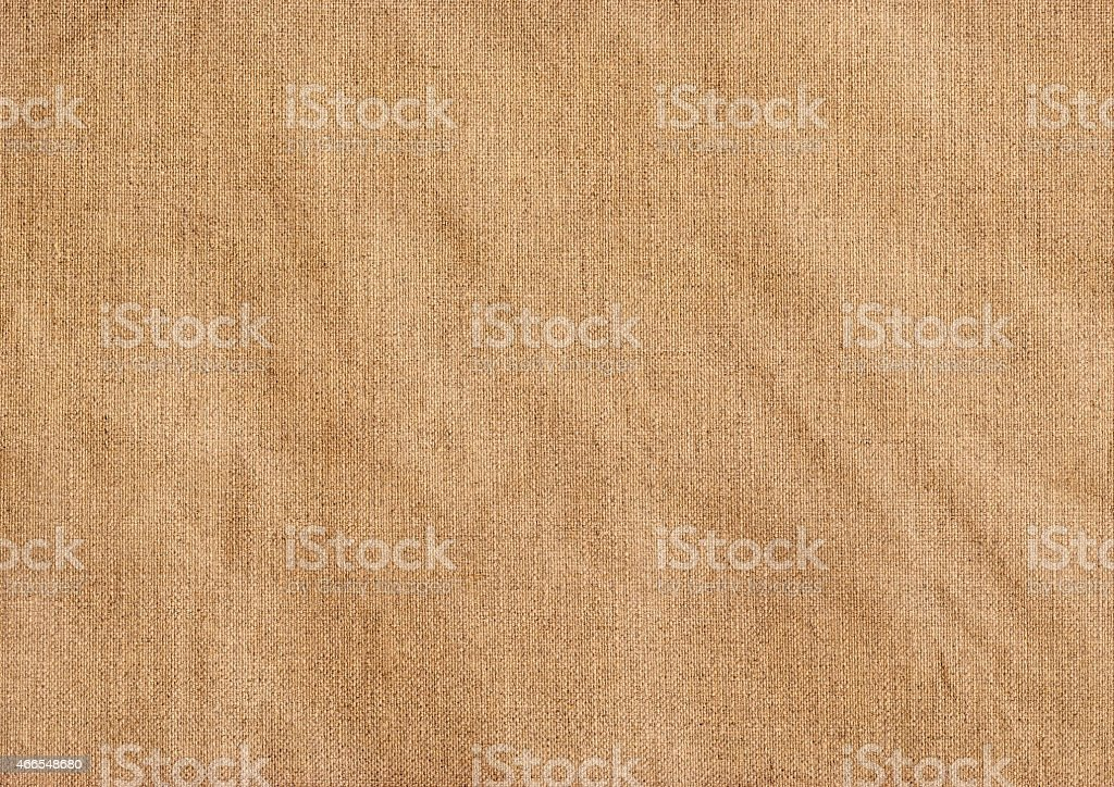 Artist Primed Linen Canvas Reverse Side Crumpled Grunge Texture stock photo