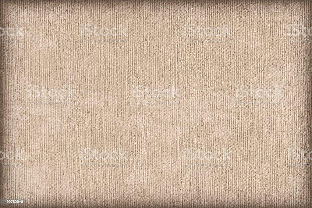 Artist Primed Linen Duck Canvas Mottled Vignette Grunge Texture stock photo