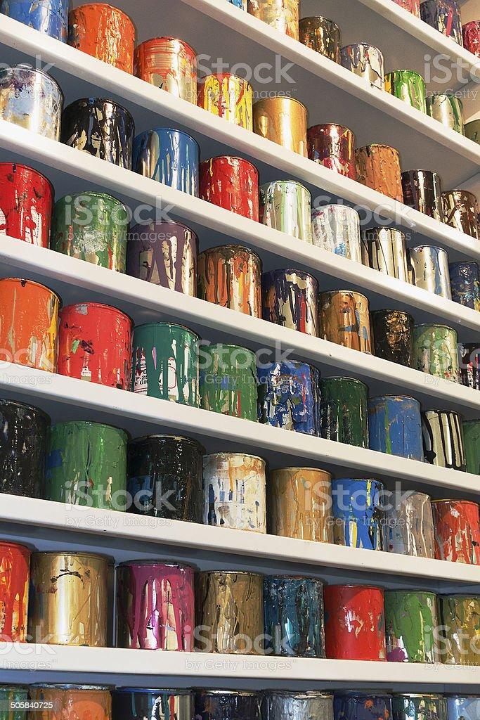 artist silk screen paints stock photo