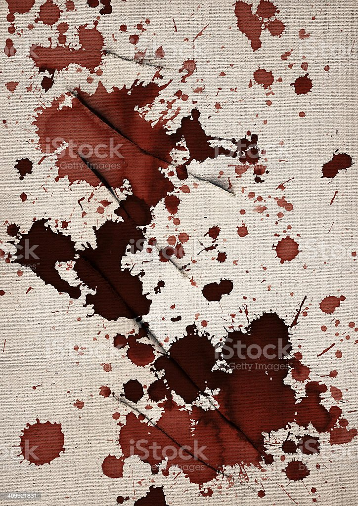 Artist Slit Bloodstained Linen Primed Canvas Grunge Texture royalty-free stock photo