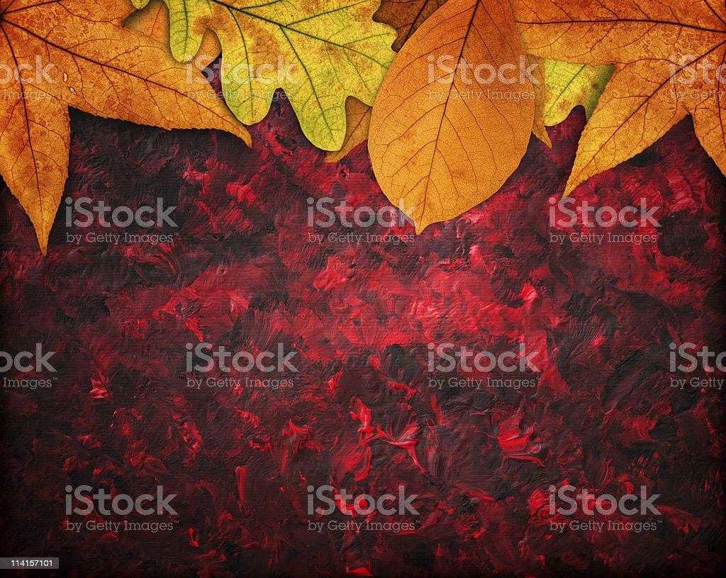 Artistic Autumn Backgroud royalty-free stock photo