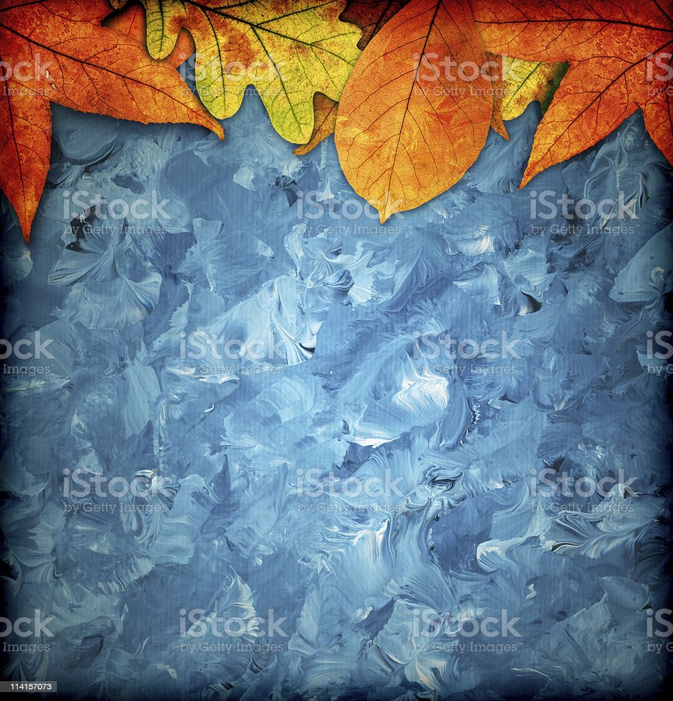 Artistic Colorful Autumn Background royalty-free stock photo