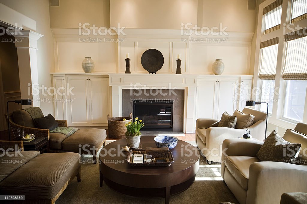 Artistic designed Living Room with modern expensive furniture royalty-free stock photo