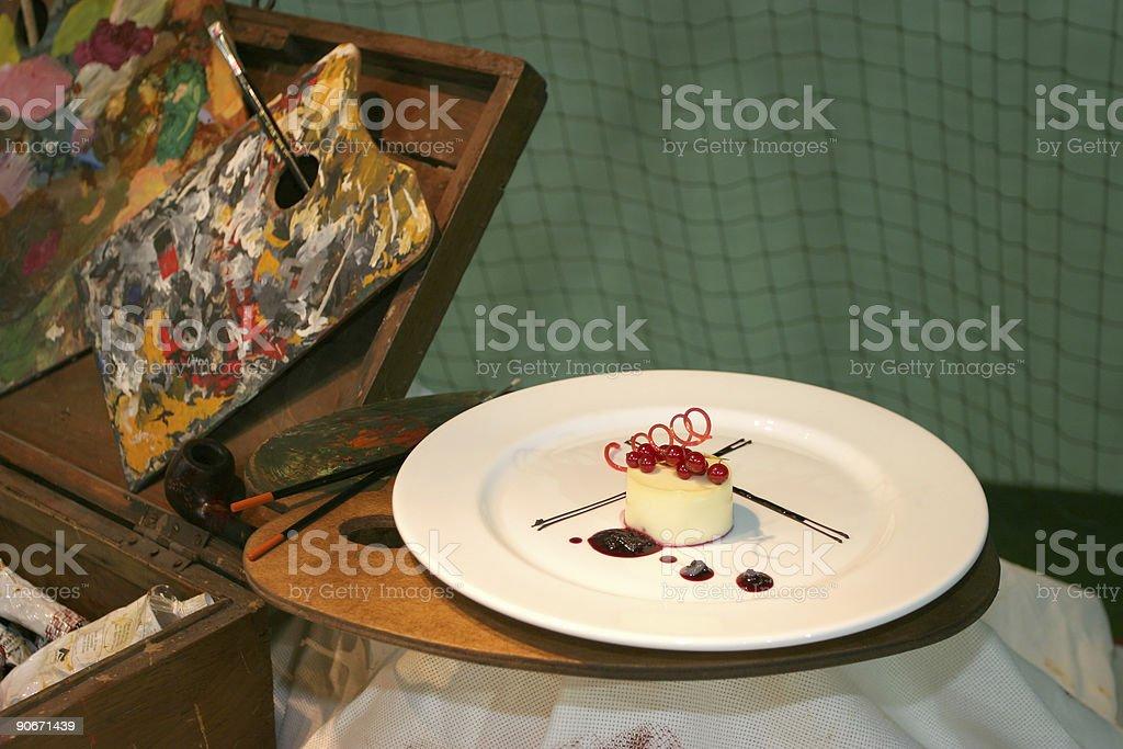 Artistic dessert royalty-free stock photo