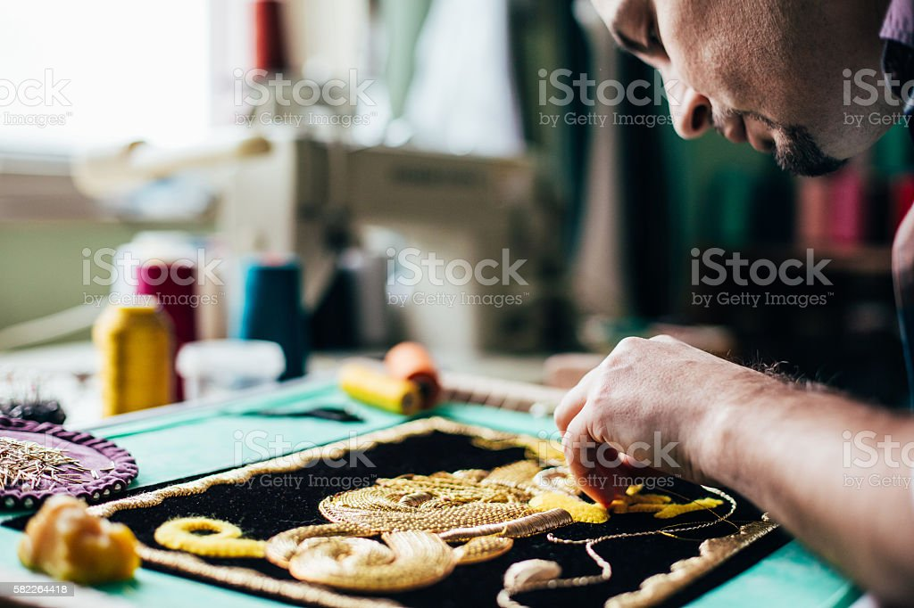 Artistic embrodery stock photo