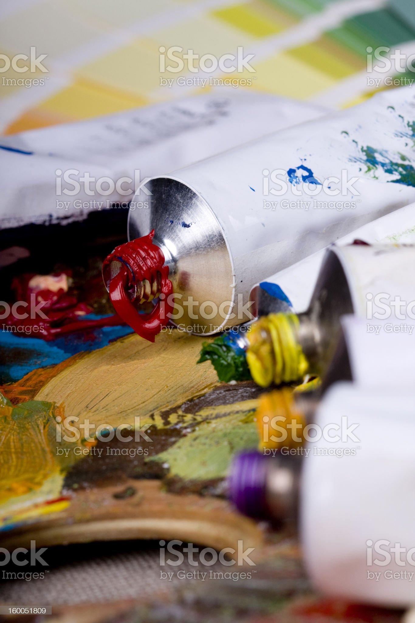 Artistic equipment royalty-free stock photo