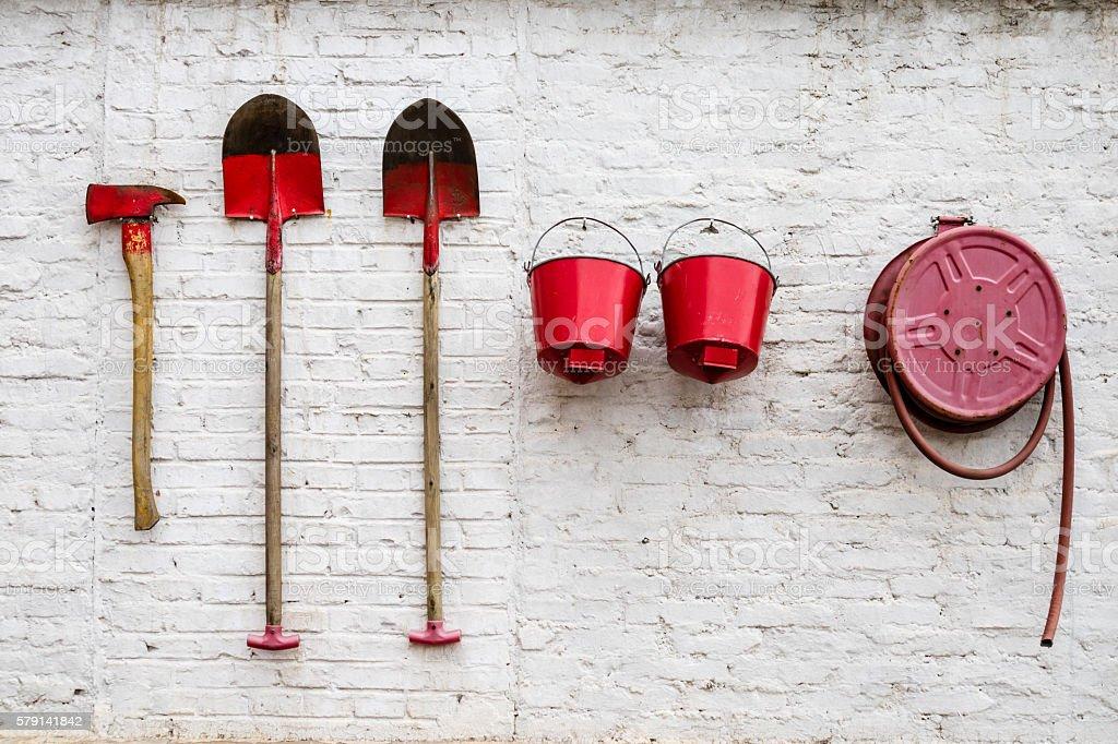 Artistic extinguish prevention tools stock photo