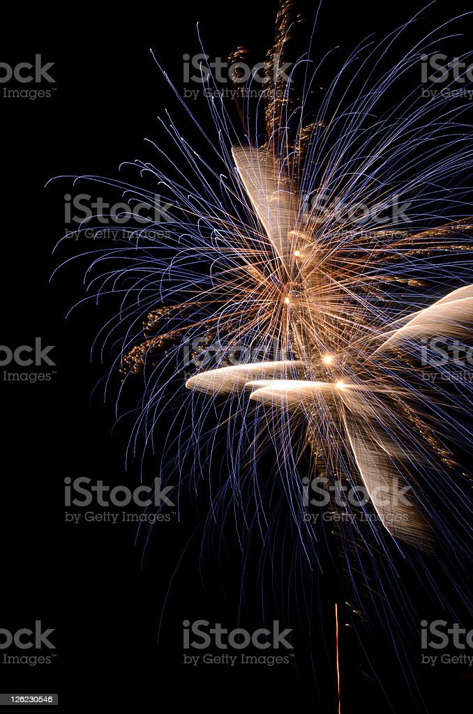 Artistic fireworks royalty-free stock photo