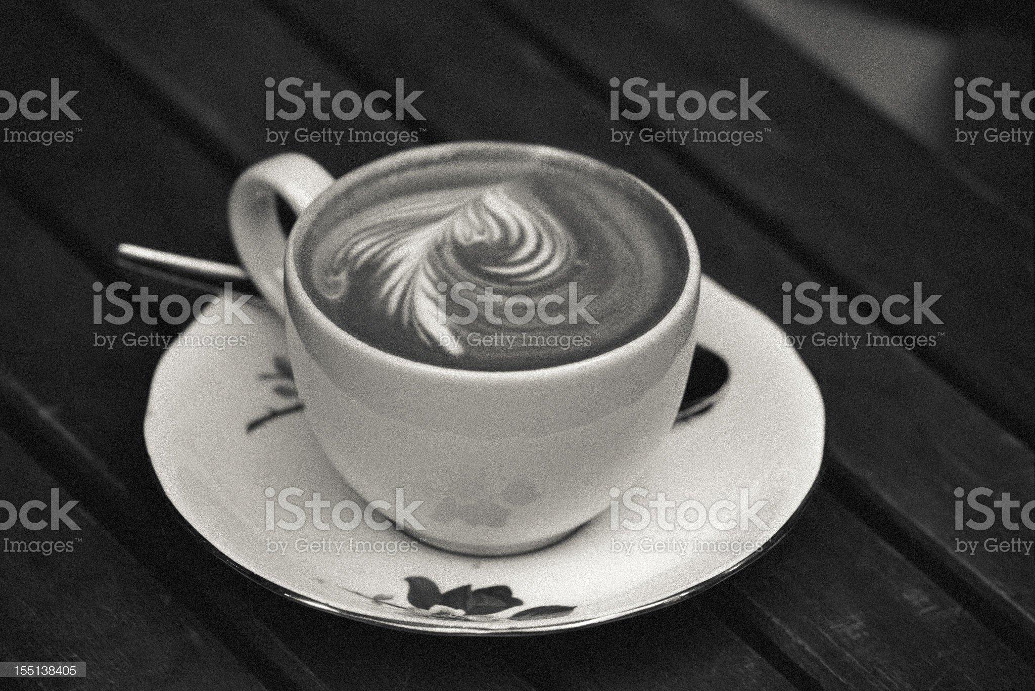 Artistic foamy cappuccino royalty-free stock photo
