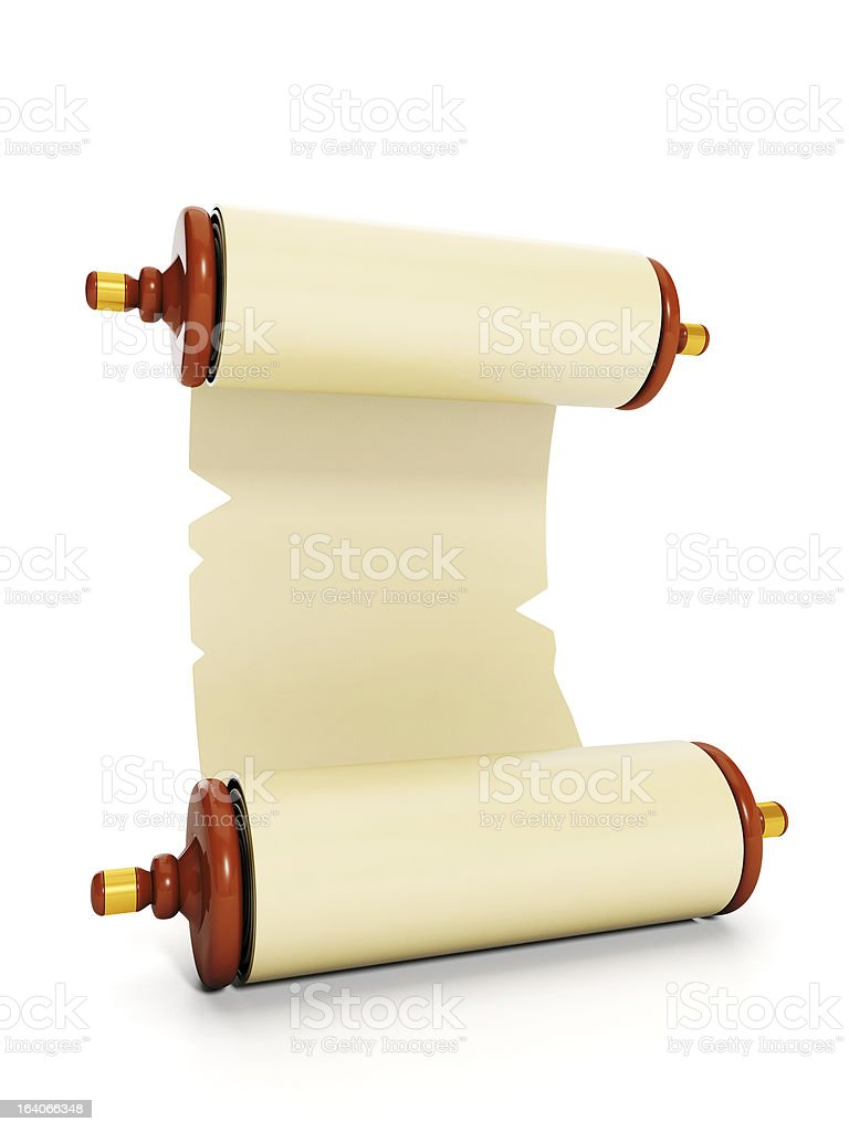 Artistic illustration of parchment royalty-free stock photo