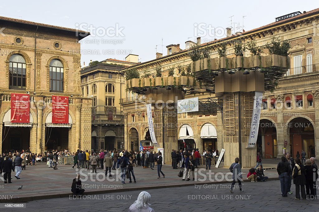 Artistic installation for Expo 2015 in Bologna city, Italy royalty-free stock photo