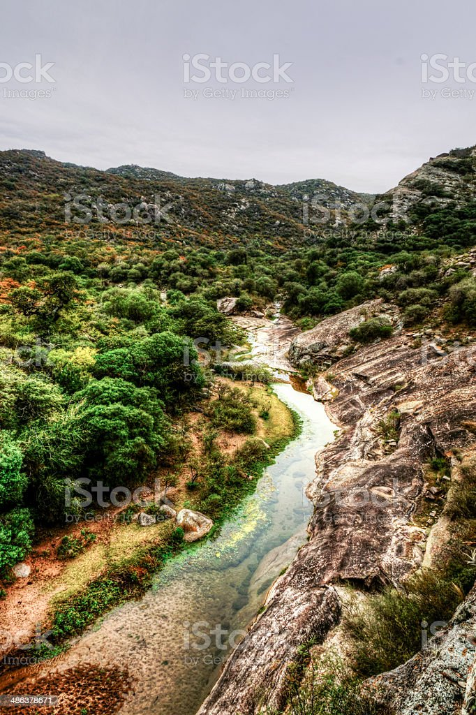 Artistic landscape Sierras the C?rdoba, Argentina stock photo