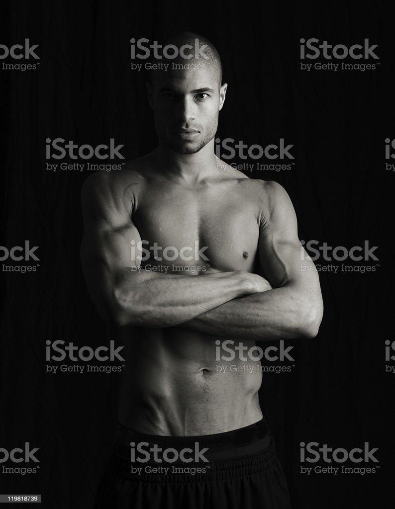 Artistic low key fitness image stock photo