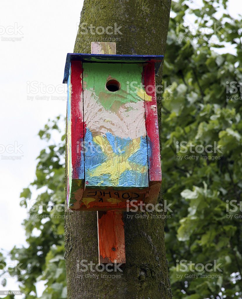 Artistic Nest Box royalty-free stock photo