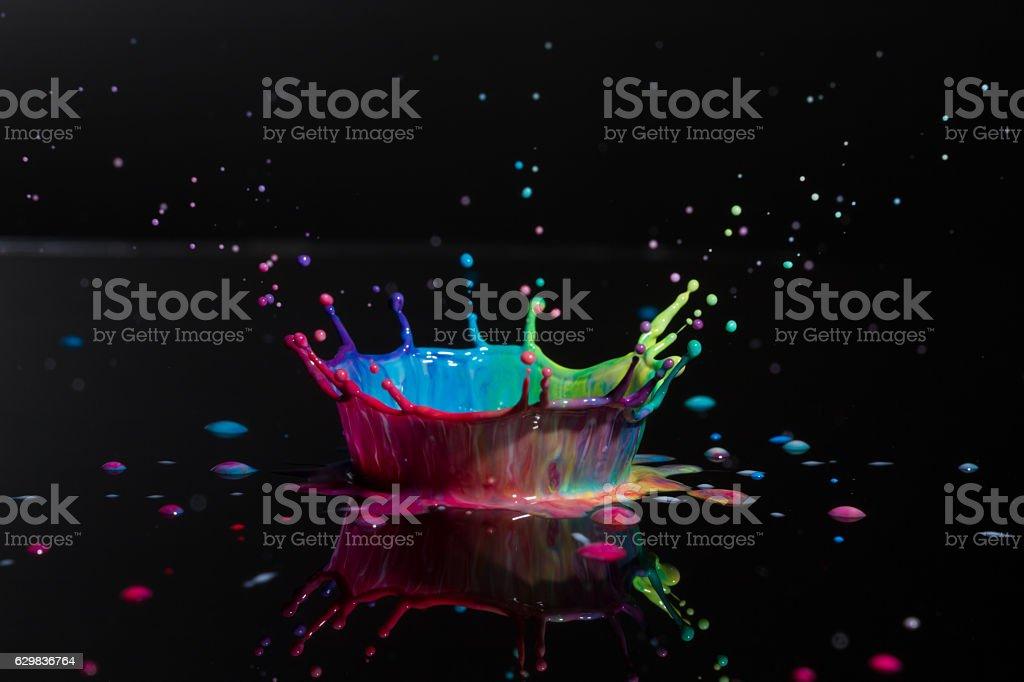 Artistic paint drop stock photo