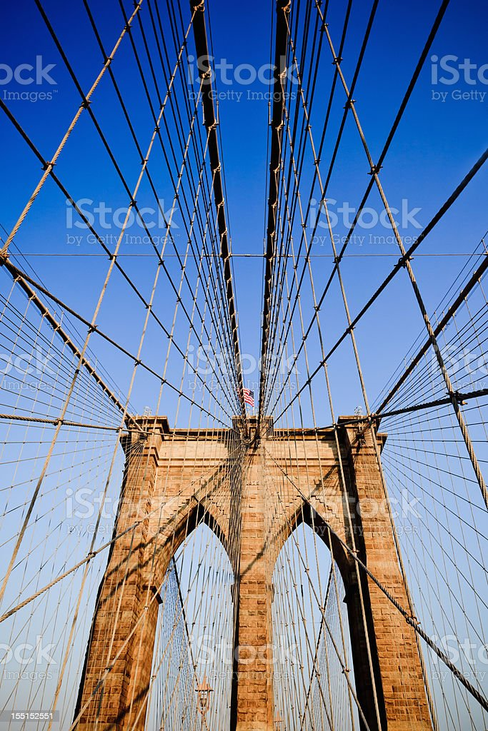 Artistic picture of Brooklyn Bridge in New York City, USA royalty-free stock photo