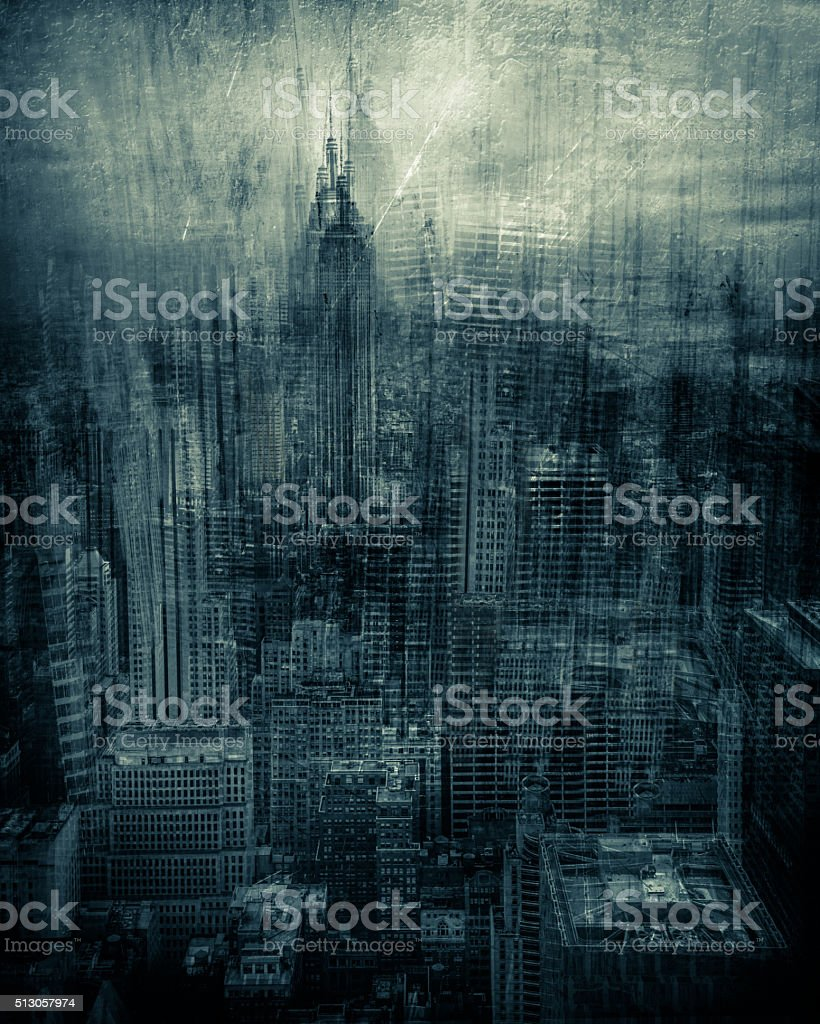 Artistic Render NYC stock photo
