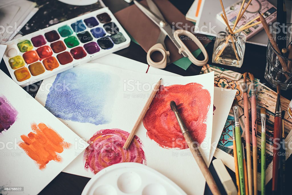 Artistic studio stock photo