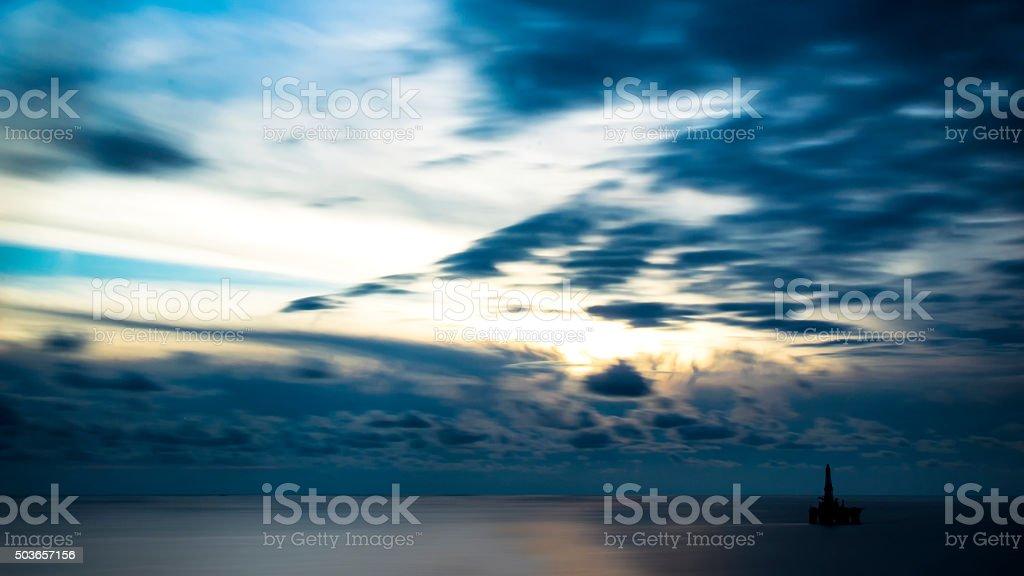 Artistic sunset stock photo
