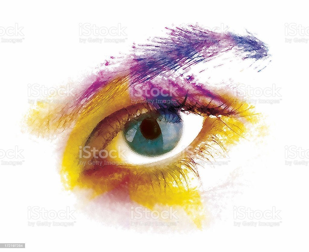 artistic vision (painted eye) royalty-free stock photo