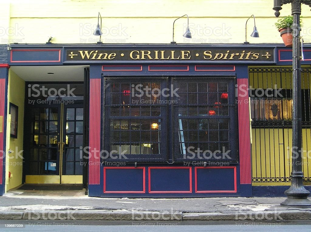 Artists' Bar royalty-free stock photo