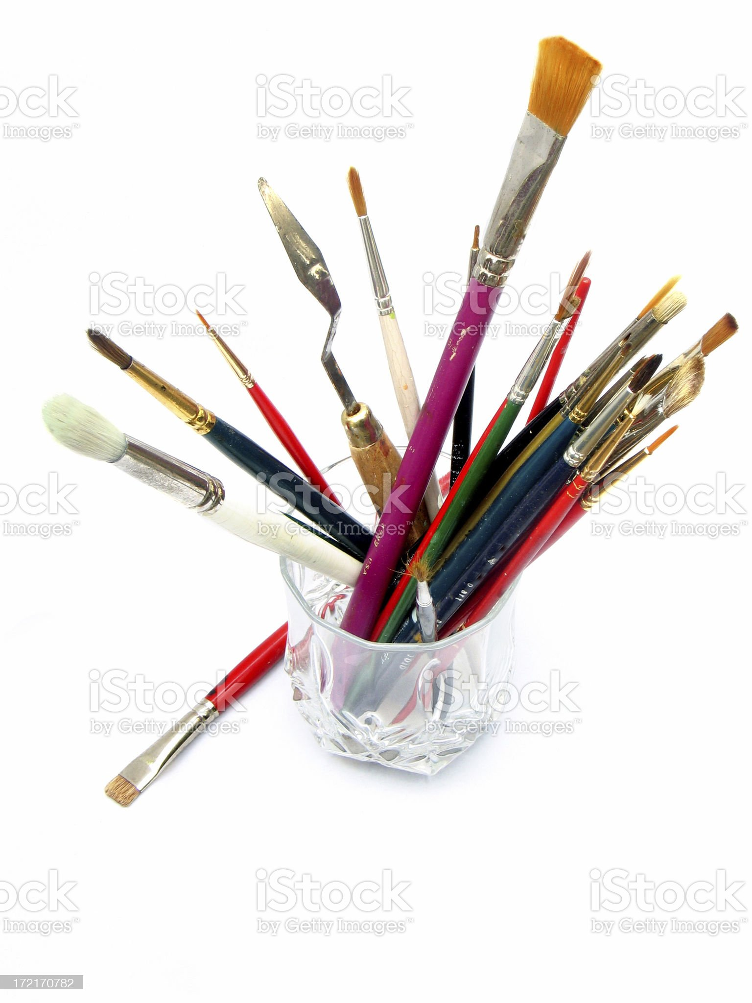 Artist's Brushes royalty-free stock photo