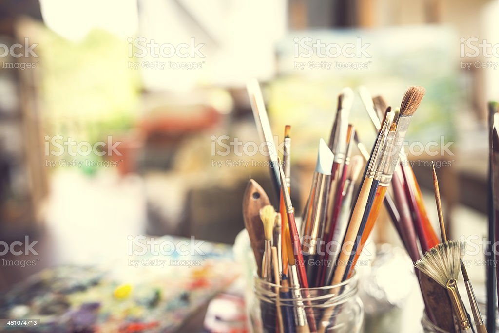 Artist's Brushes stock photo