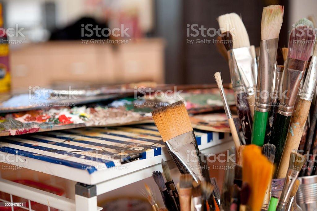 Artists Brushes stock photo
