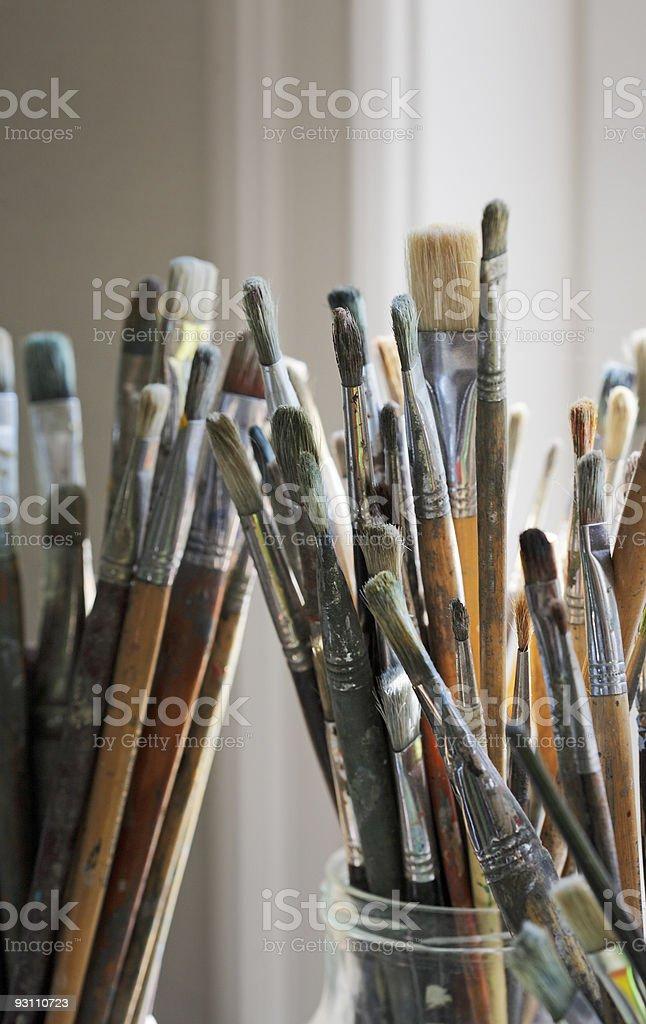 Artist's brushes stock photo