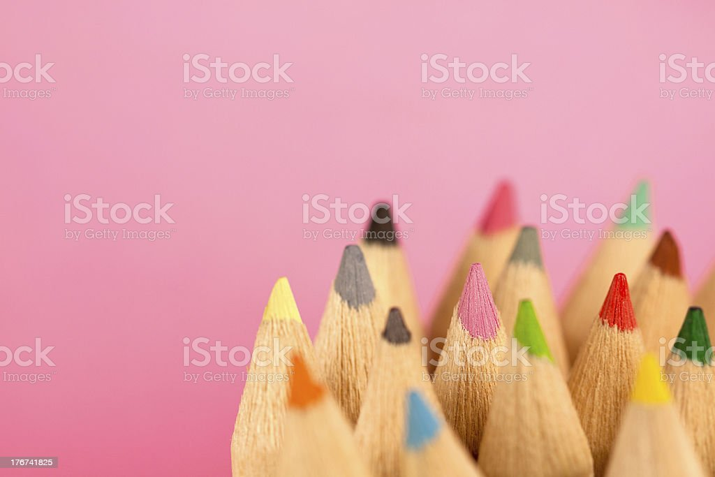 Artists Crayons of Various Colours royalty-free stock photo