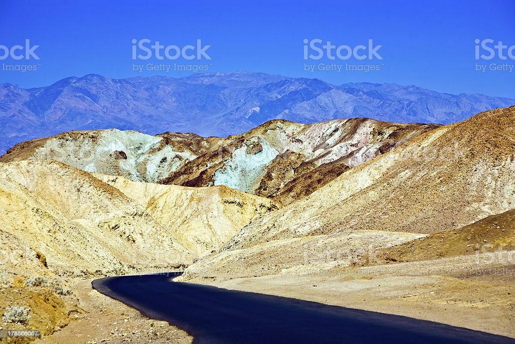 Artists Drive road, Death Valley National Park royalty-free stock photo