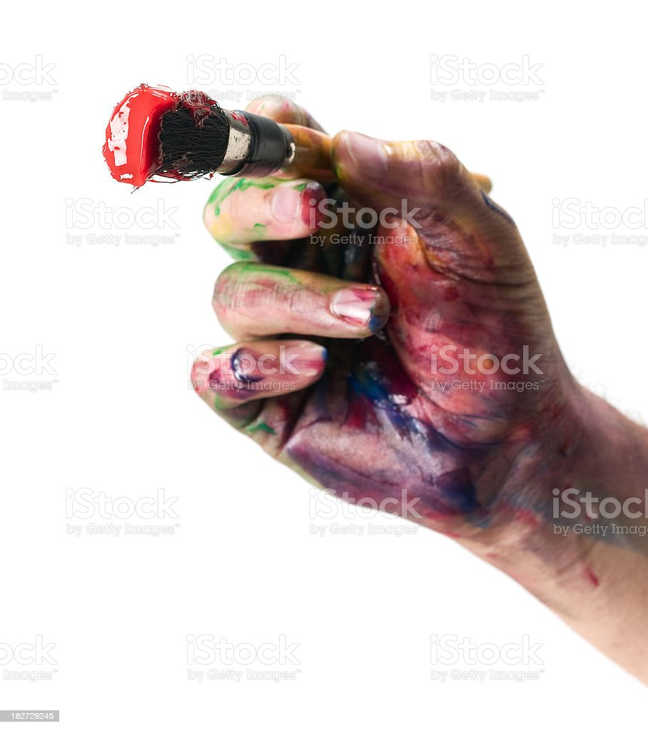 Artist's Hand royalty-free stock photo
