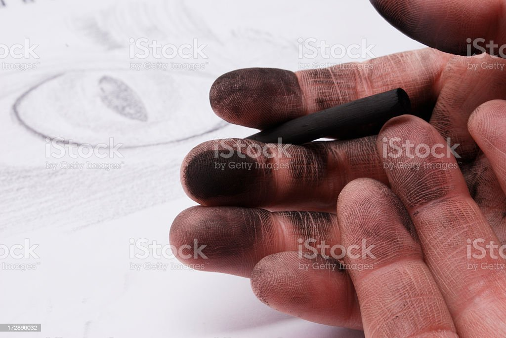 Artist's Hands royalty-free stock photo