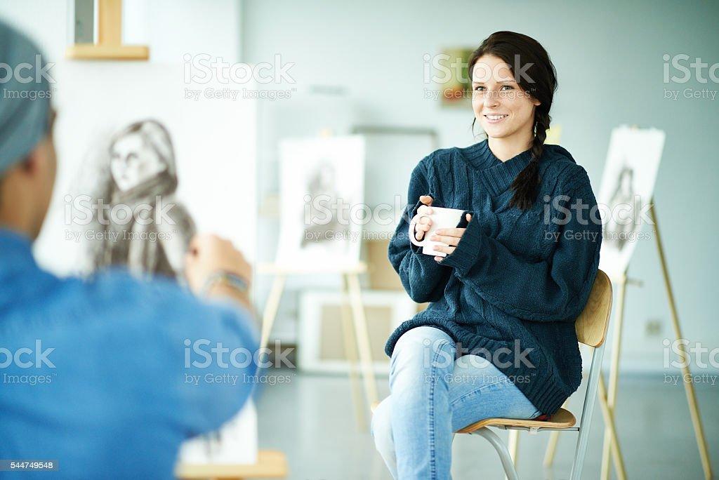 Artist's model stock photo