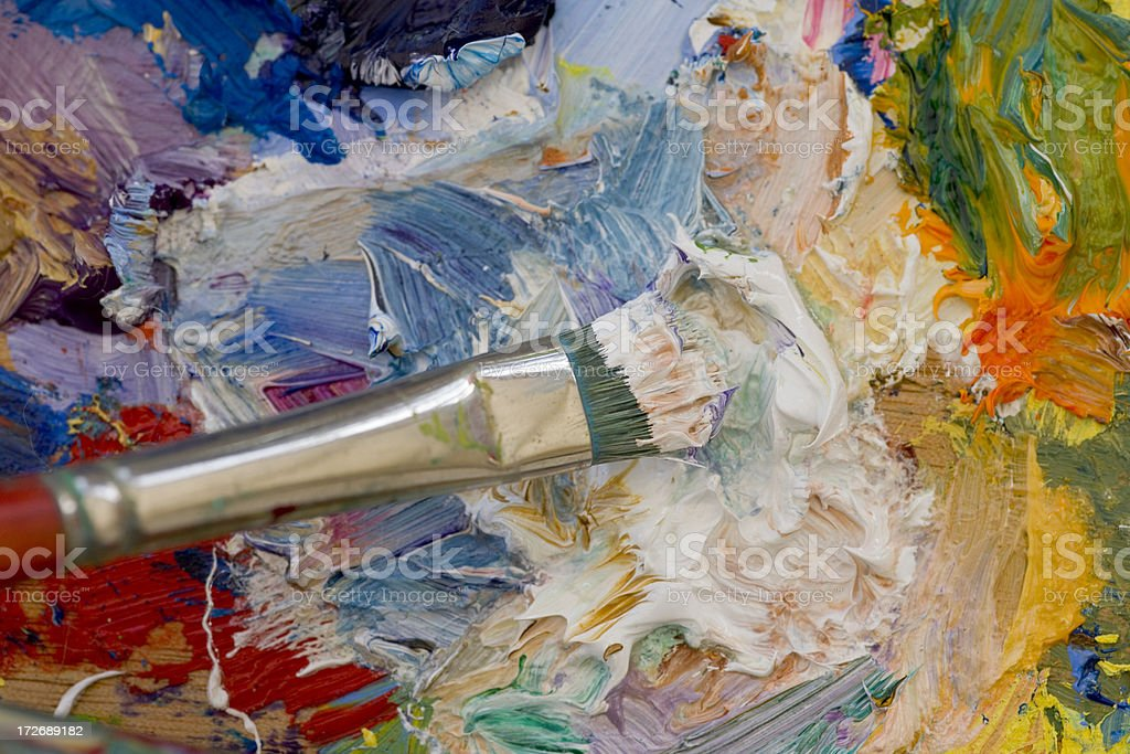 Artists oil painting palette royalty-free stock photo