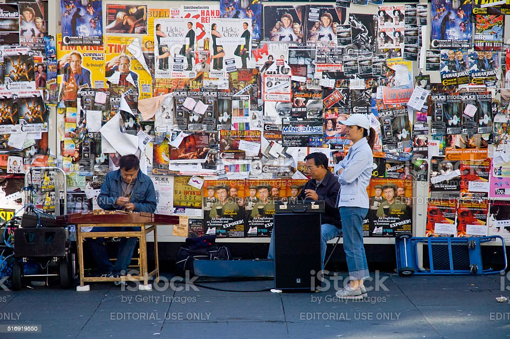 Artists on Royal mile in Edinburgh stock photo