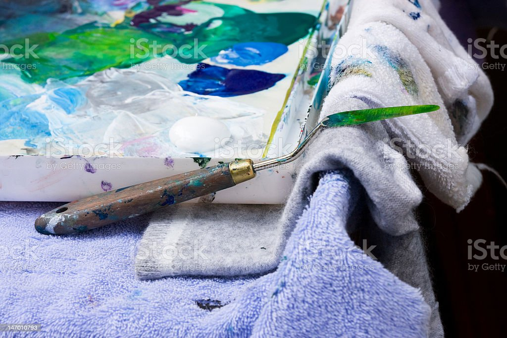 Artist's Paint Palette II royalty-free stock photo